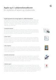 Apple og it i uddannelsessektoren En styrkelse af lærere og ...