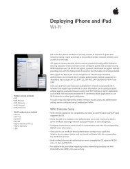 Deploying iPhone and iPad Wi-Fi - Apple