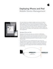 Deploying iPhone and iPad Mobile Device Management - Apple