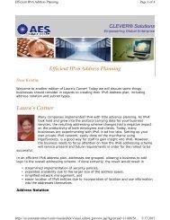 Efficient IPv6 Address Planning - Aesclever.com