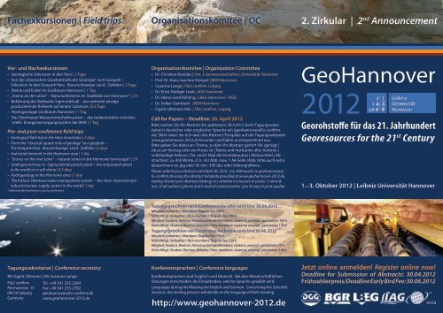 2. Zirkular - GeoHannover-2012