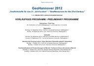 vorläufiges programm / preliminary programme - GeoHannover-2012