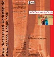 www .theaterpaed-werkstatt.de www .grosse-klappe ... - Große Klappe