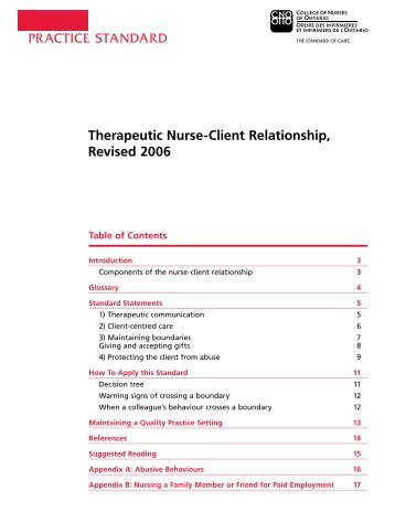 therapeutic relationship between nurse and patient essay