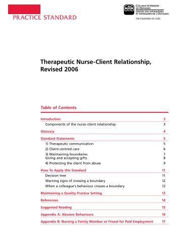 cno therapeutic relationship