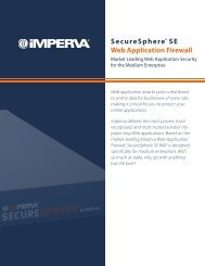 SecureSphere® SE Web Application Firewall - Exclusive Networks