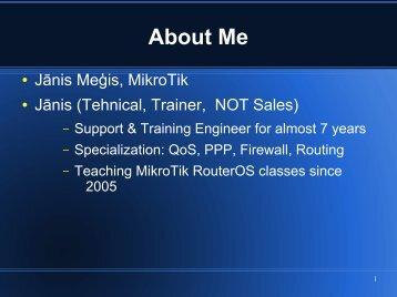 About Me - MUM - MikroTik