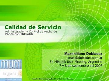 Calidad de Servicio - MUM - MikroTik