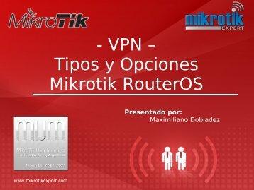 VPN - MUM - MikroTik