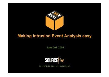 Making Intrusion Event Analysis easy - Stallion