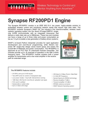 ATmega128RFA - Synapse Wireless