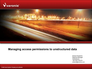 Managing Access Permissions to Unstructured Data - Stallion