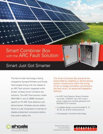 Smart Combiner Box Product Brief - Synapse Wireless