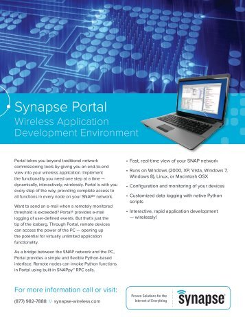 Synapse Portal Product Brief - Synapse Wireless