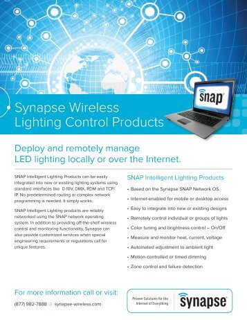 Synapse Wireless Lighting Control Products