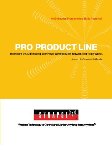 PRO PRODUCT LINE - Synapse Wireless