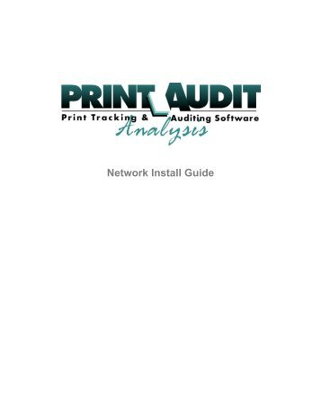 Network Install Guide - Print Audit