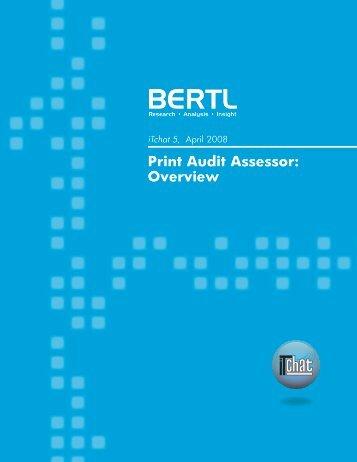 Print Audit Assessor: Overview