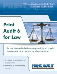 Print Audit 6 for Law Brochure