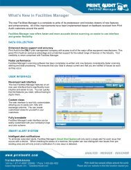 What's New in Facilities Manager - Print Audit