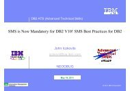 SMS is Now Mandatory for DB2 V10 SMS Best Practices ... - neodbug