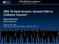 DB2 10 Hash Access - neodbug
