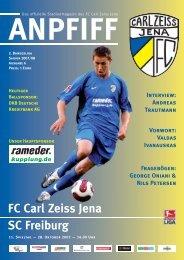 FC Carl Zeiss Jena SC Freiburg