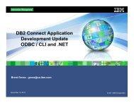 DB2 Connect Application Development Update ODBC ... - neodbug