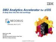 DB2 Analytics Accelerator - neodbug