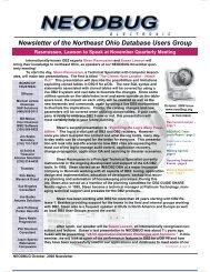 October 2008 Newsletter - neodbug