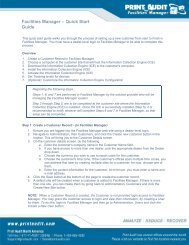 Facilities Manager – Quick Start Guide - Print Audit