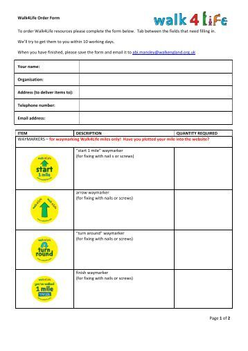 Printed resources order form heart and stroke foundation for Chemotherapy order templates