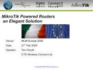 MikroTik Powered Routers an Elegant Solution - MUM