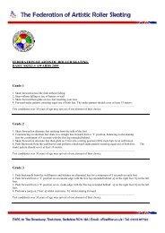 Basic Skills - Grades - Federation of Artistic Roller Skating
