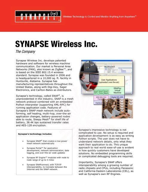 SYNAPSE Company Over   - Synapse Wireless