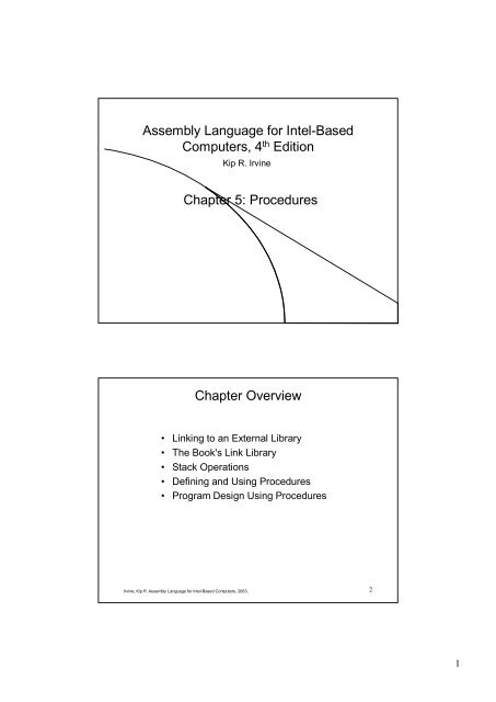 Assembly Language for Intel-Based Computers (4th Edition)