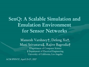 SenQ: A Scalable Simulation and Emulation Environment for Sensor ...