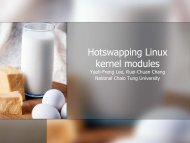 Hotswapping Linux kernel modules