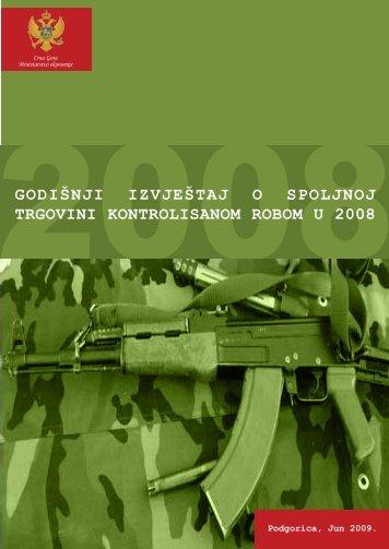 godišnji izvještaj o spoljnoj trgovini kontrolisanom robom u ... - seesac