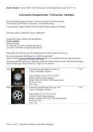 Gebrauchte Aluräder, gebrauchte Alufelgen - Reifen Schmidt