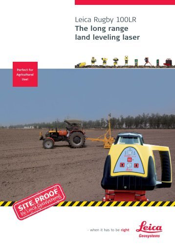Leica Rugby 100LR - The long range land leveling laser (PDF ...