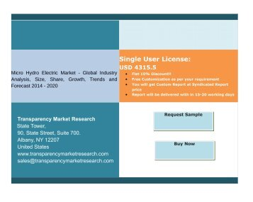 Micro Hydro Electric Market - Global Industry Analysis, Trends and Forecast 2014 – 2020