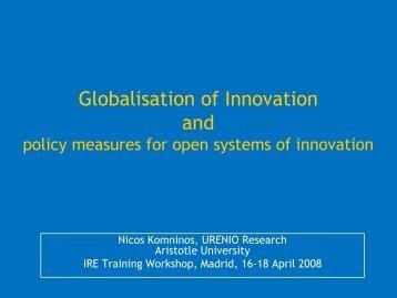 Nicos Komninos (2008) - IntelSpace Innovation Technologies SA