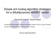 Simple ant routing algorithm strategies for a (Multipurpose) MANET ...