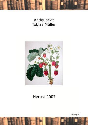 Katalog Nr.4 - Antiquariat Tobias Müller: Start