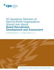 20 Questions Directors of Not-For-Profit Organizations Should Ask about Board Recruitment