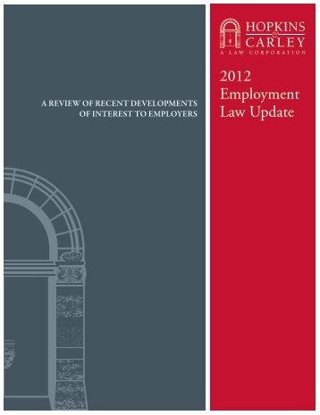 Hopkins & Carley Employment Law Update 2012