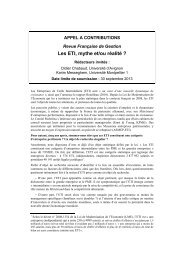 Les ETI, mythe et/ou réalité ? - Revue Française de Gestion