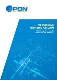 HFC Solution Brochure - Pacific Broadband Networks