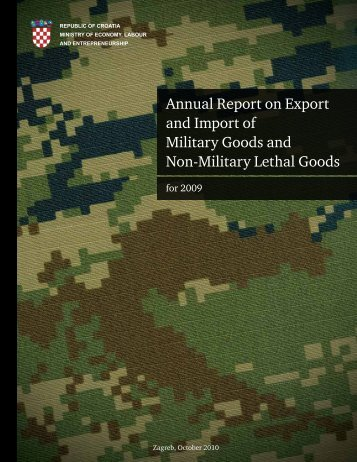 Annual Report on Export and Import of Military Goods and ... - SIPRI